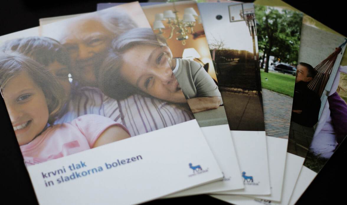 Oblikovana zloženka za podjetje Novo Nordisk